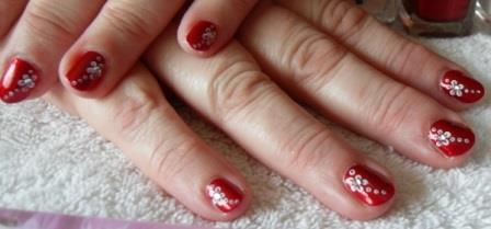 Nail Art Following A Spa Manicure